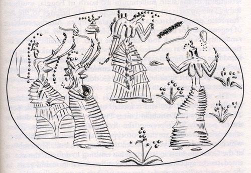 Dancing Bee Goddesses