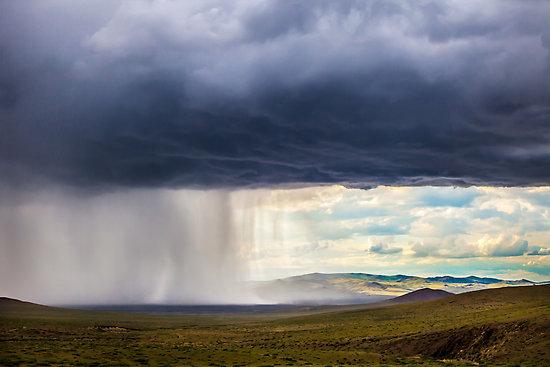 Mongolian Steppe Storm by Ruben D. Mascaro