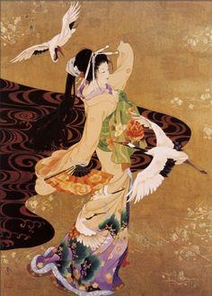 japanesewomancranes